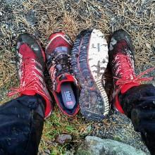 Dubbade trailskor