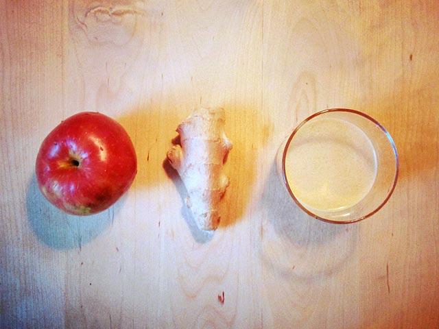 Äpple + ingefära