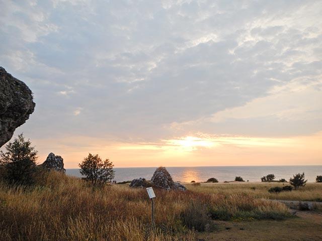 Solnedgång på Gotland
