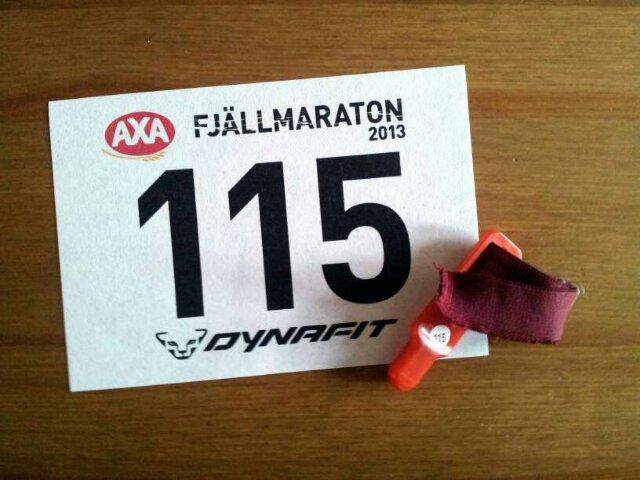 Nummerlapp 115 AXA Fjällmaraton