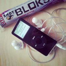 Shot Bloks och iPod Nano