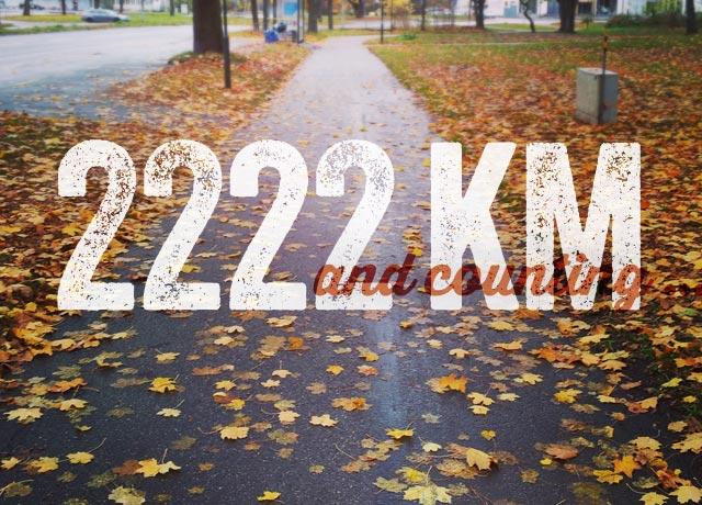 2222 km