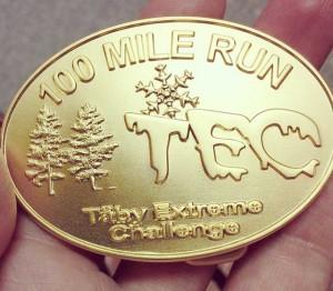 Guldmedalj TEC 100 miles