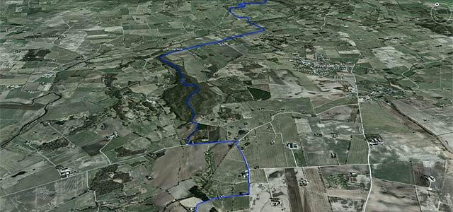 GAX 100 på Google Earth, detalj