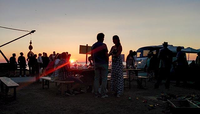 Öl i solnedgången