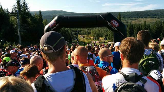Starten AXA Fjällmaraton 2014