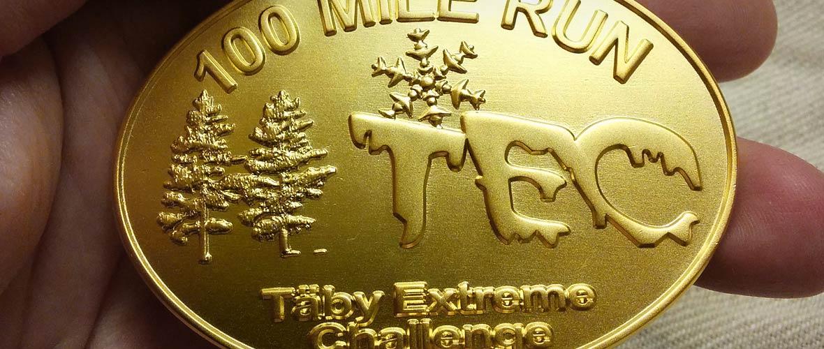 Medalj: TEC 100 miles