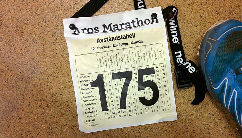 Nummerlapp Aros Marathon