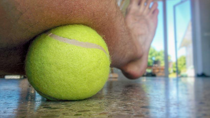 Massage med tennisboll