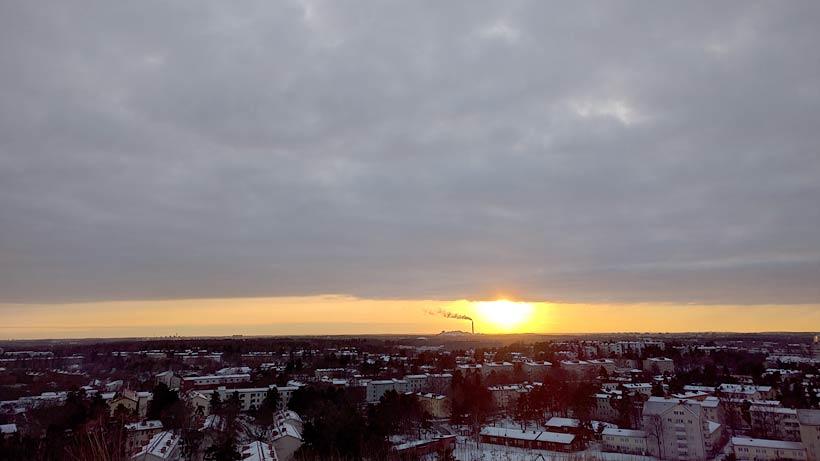 Solnedgång Hammarbybacken