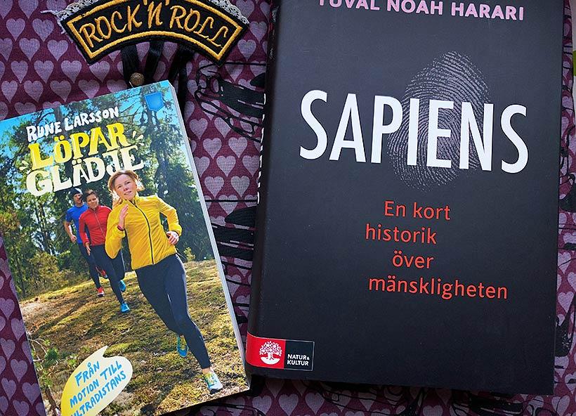 Böcker: Löparglädje & Sapiens