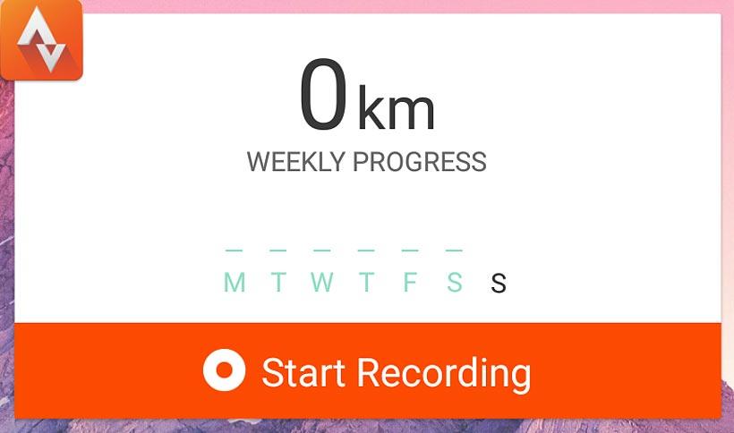 0 km löpning