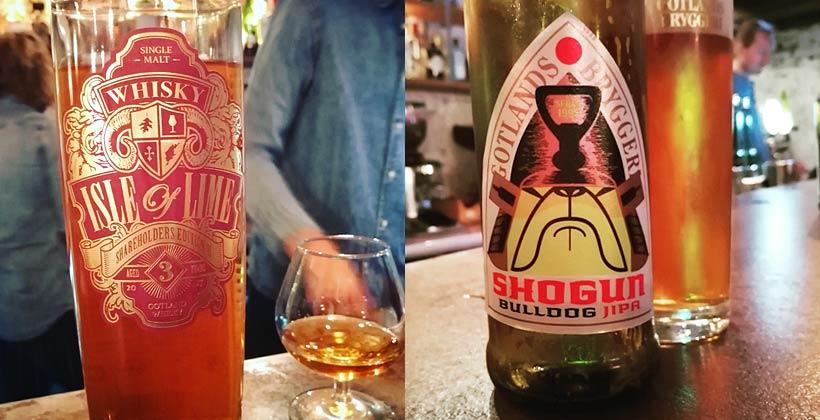 Gotlandswhisky och Gotlandsbryggeri Shogun Bulldog Jipa