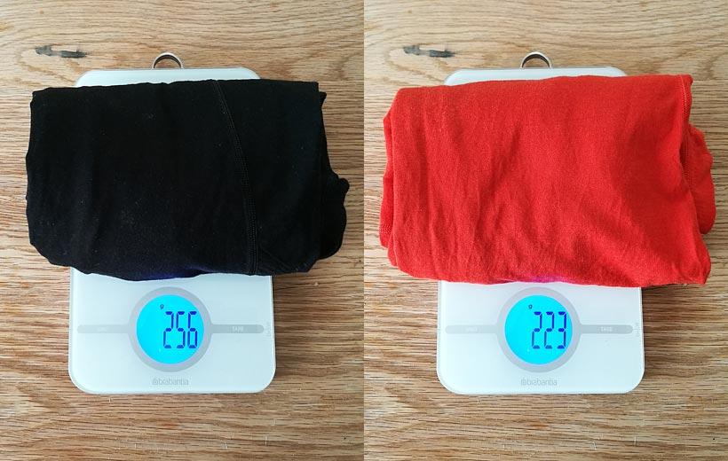 Jämförelse av vikt underställ