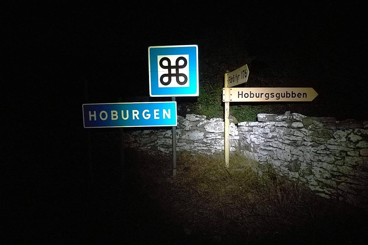 Hoburgen by night