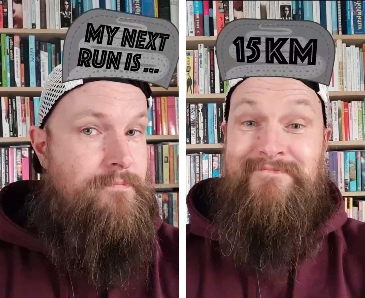 Exempel från filtret My Next Run